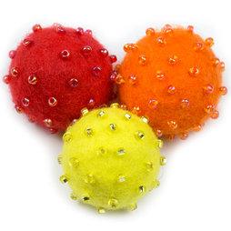 LIV-42/rbs, Adams, decoratieve magneten van vilt, Regenbogen zomer, set van 3