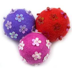 LIV-42/fpw, Adams, decoratieve magneten van vilt, Flower Power Winter, set van 3
