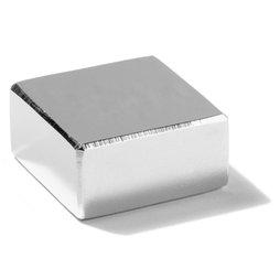 Q-30-30-15-N, Block magnet 30 x 30 x 15 mm, neodymium, N45, nickel-plated