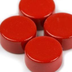 LIV-44/red, Steely, rote Neodym-Magnete, 10er-Set, 6 x 3 mm klein