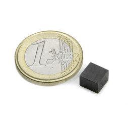 FE-Q-07-07-05, Bloque magnético 7 x 7 x 5 mm, ferrita, Y35, sin revestimiento