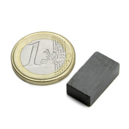 FE-Q-18-10-06, Block magnet 18 x 10 x 6 mm, ferrite, Y35, no coating
