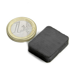 FE-Q-25-20-06, Blokmagneet 25 x 20 x 6 mm, ferriet, Y35, zonder coating