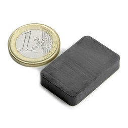 FE-Q-30-20-06, Blokmagneet 30 x 20 x 6 mm, ferriet, Y35, zonder coating