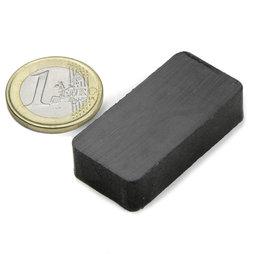 FE-Q-40-20-10, Bloque magnético 40 x 20 x 10 mm, ferrita, Y35, sin revestimiento