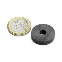 FE-R-22-06-05, Ring magnet Ø 22/6 mm, height 5 mm, ferrite, Y35, no coating