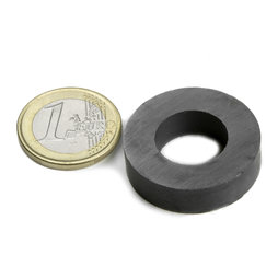 FE-R-30-16-08, Ring magnet Ø 30/16 mm, height 8 mm, ferrite, Y35, no coating