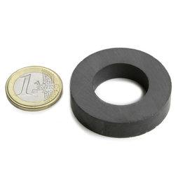 FE-R-40-22-09, Ring magnet Ø 40/22 mm, height 9 mm, ferrite, Y35, no coating