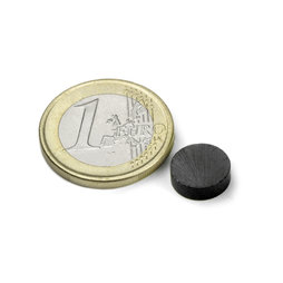 FE-S-10-03, Disco magnetico Ø 10 mm, altezza 3 mm, ferrite, Y35, senza rivestimento