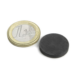 FE-S-20-03, Disc magnet Ø 20 mm, height 3 mm, ferrite, Y35, no coating