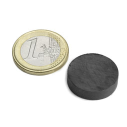 FE-S-20-05, Disc magnet Ø 20 mm, height 5 mm, ferrite, Y35, no coating