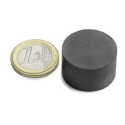 FE-S-25-15, Disc magnet Ø 25 mm, height 15 mm, ferrite, Y35, no coating
