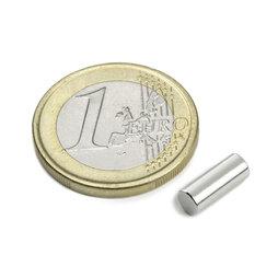 S-04-10-AN, Cilindro magnético Ø 4 mm, alto 10 mm, neodimio, N45, niquelado