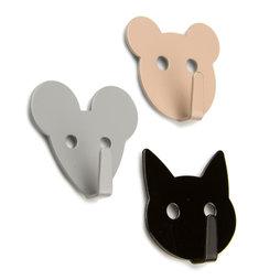 LIV-60, Magnetic hooks Animals, magnetic animal-shaped hooks, set of 3