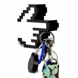 M-49, Key holder magnetic 8-bit hand, with magnetic index finger, magnetic backside