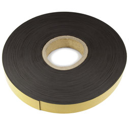 MT-40-STIC/25m, Magnetklebeband Ferrit 40 mm, selbstklebendes Magnetband, Rolle à 25 m