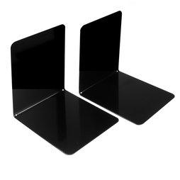 M-BOOK/black, Fermalibri magnetici, in metallo, set da 2, nero
