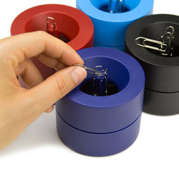 M-CLIP, Paper clip dispenser magnetic, with strong magnet in the centre, plastic, in different colours