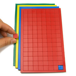 BA-012S, Magnetic symbols Square small, for whiteboards & planning boards, 112 symbols per sheet, in different colours