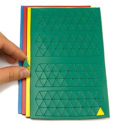 BA-012T, Triángulos magnéticos pequeños, para pizarras blancas y de planificación, 180 símbolos por hoja, en diferentes colores