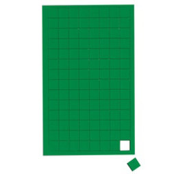 BA-012S/green, Cuadrados magnéticos pequeños, para pizarras blancas y de planificación, 112 símbolos por hoja, verde
