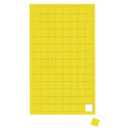 BA-012S/yellow, Cuadrados magnéticos pequeños, para pizarras blancas y de planificación, 112 símbolos por hoja, amarillo