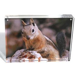 FRM-03, Bilderrahmen 18 x 13 cm, mit Magnetverschluss, aus transparentem Acrylglas, für Hoch- oder Querformat