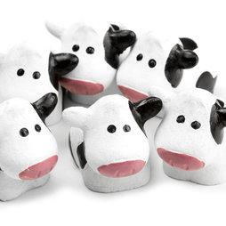 LIV-65, Cows, strong fridge magnets, set of 6