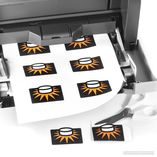 picture about Printable Magnetic Labels identify Magnetic paper shiny