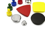 Office magnets with metal or plastic coating